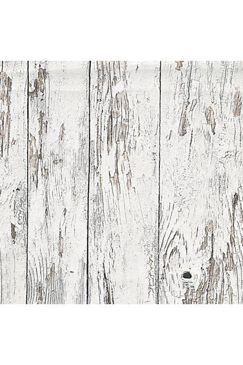 Tapeta iz netkane tekstilije my look, les (bela, videz lesa Used Look, 10,05 x 0,53 m)