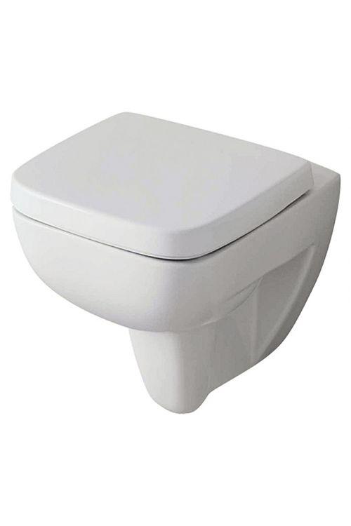 Komplet stenske straniščne školjke brez notranjega roba Renova Nr. 1 Plan, Keramag (z WC-desko, globoki splakovalnik, bela)