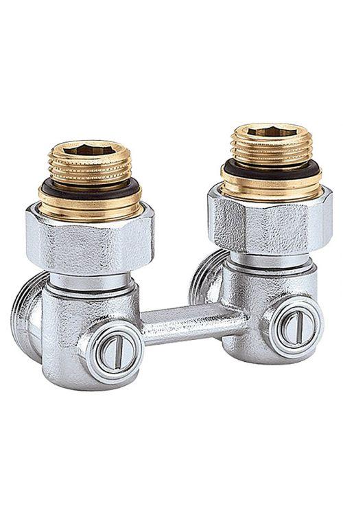 Dvocevni ventil za radiator (½-palčni, kotni)