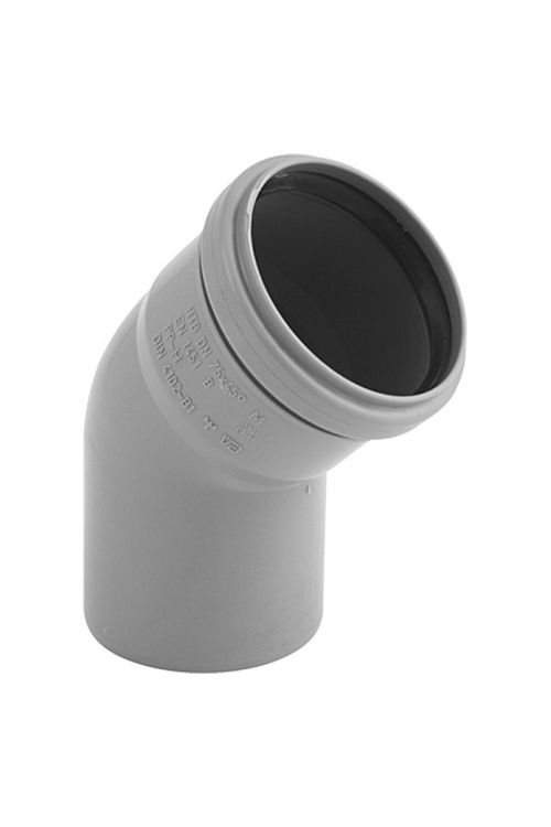 Cevno koleno za hišno kanalizacijo (DN 110, 45 °)