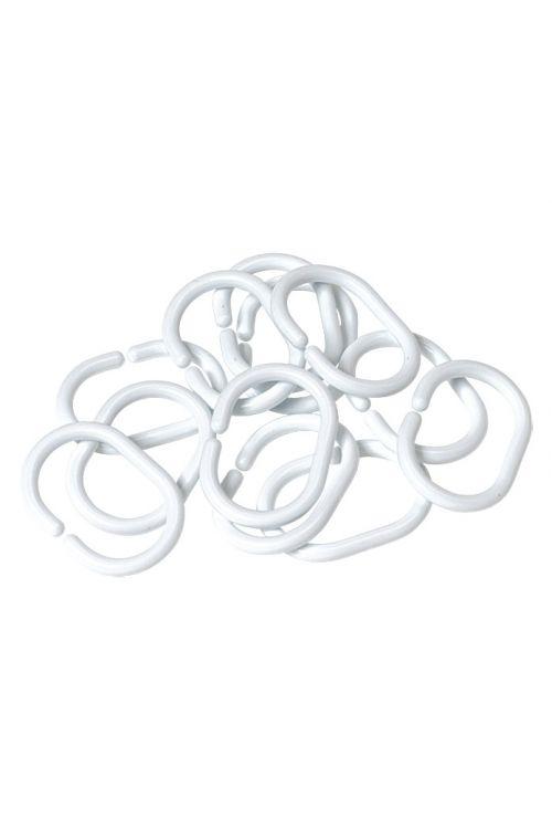Obročki za zaveso za kopalnico Venus (bela, 12 kos)