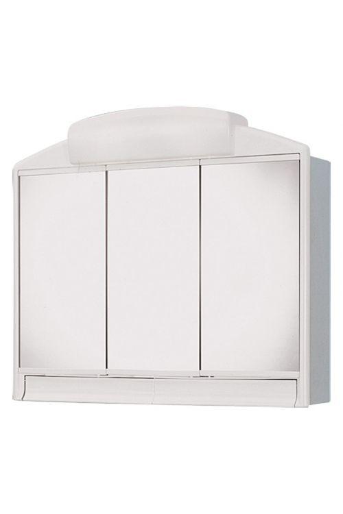 Omarica z ogledalom Jokey Rano (59 x 51 x 16 cm, bela, z osvetlitvijo)