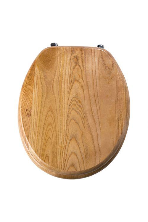 WC deska POSEIDON Jesen (lesena, bela)