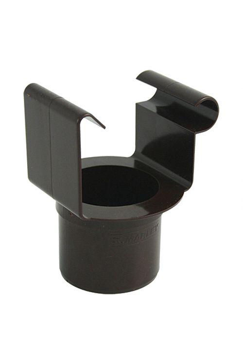 Nosilec za štirioglati žleb Marley (nazivna širina: 70/53 mm, rjava)