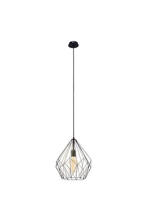 Viseča svetilka Eglo Carlton (črna, višina: 110 cm, maks. moč: 60 W, E27, energetski razred: A++ do E)