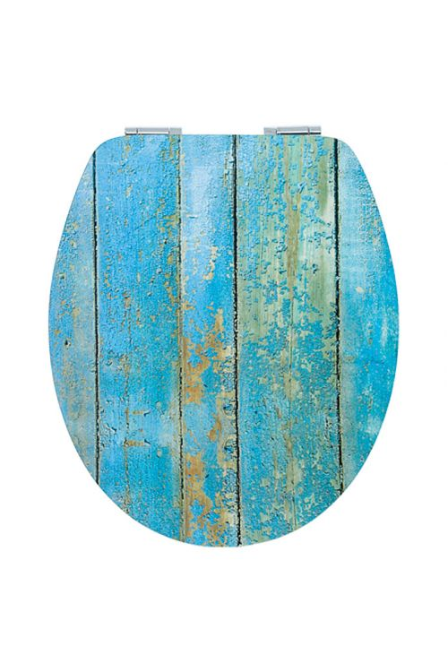 WC deska POSEIDON Ladijski pod (MDF, počasno spuščanje, snemljiva, modra)