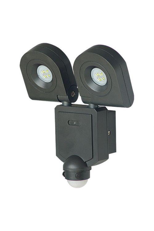 LED zunanji senzorski reflektor Starlux (2 x 10 W, 1.440 lm, črn)