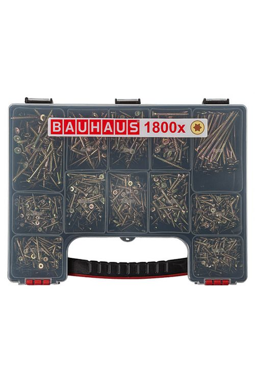 Komplet večnamenskih vijakov BAUHAUS (TX za pogone TORX, 1800 kosov)