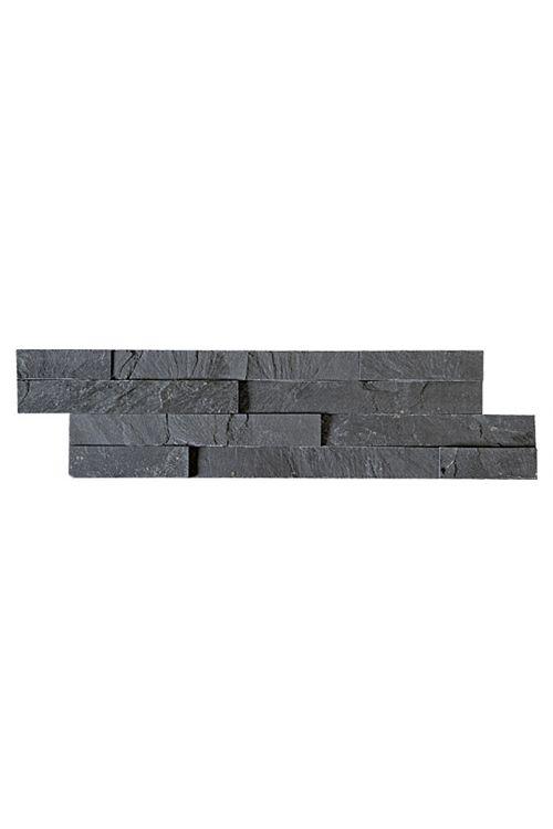 Stenska obloga Nero Slim  (10 x 40 cm, črna, naravni kamen)