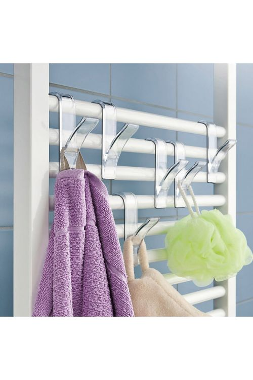 Kavelj za brisače za kopalniški radiator, Wenko (prosojen, 2 kosa)