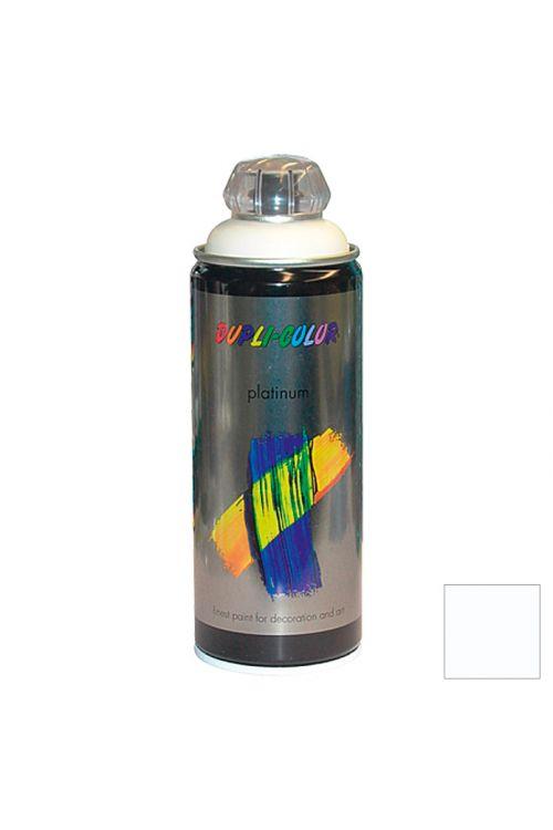 Platinasti barvni lak v razpršilu Dupli Color RAL 9010 (barva: snežno bela; svilnato mat; 400 ml)