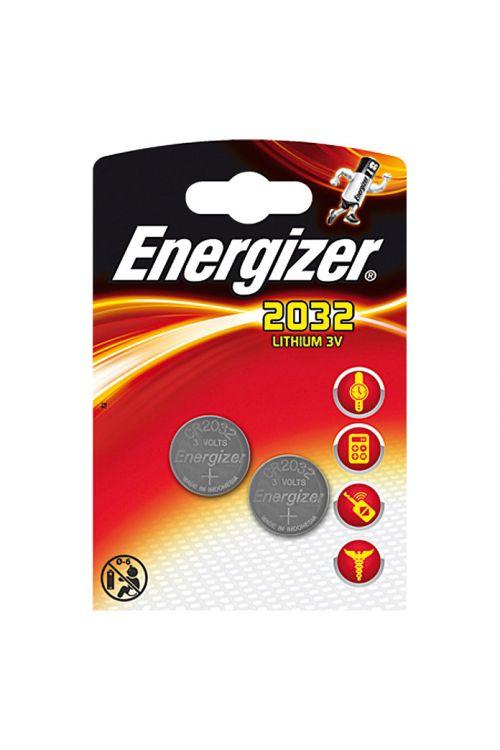 Gumbna baterija Energizer (CR2032, 3 V, 2 kosa)