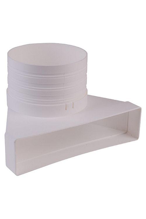 Preusmerjevalna cev ploščatega kanala Air-Circle (mere priključnega nastavka: 220 x 54 mm, premer priključnega nastavka: 125 mm)