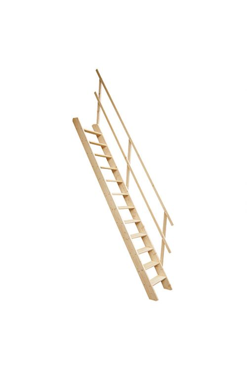 Stopnice z lesenima stranicama Meisterholz (smreka/jelka, etažna višina: maksimalno 272 cm)