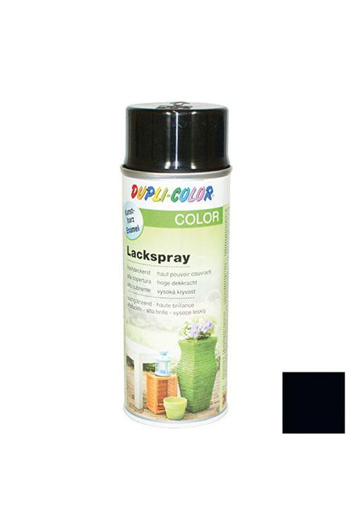 Barvni lak v razpršilu Dupli-Color COLOR RAL 9005 (intenzivno črna, sijoča, 400 ml)