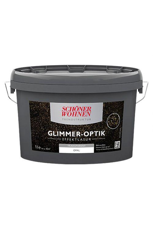 Lazura z učinkom Schöner Wohnen Glimmer-Optik Effektlasur Trendstruktur (opalna, prosojna, 1 l)