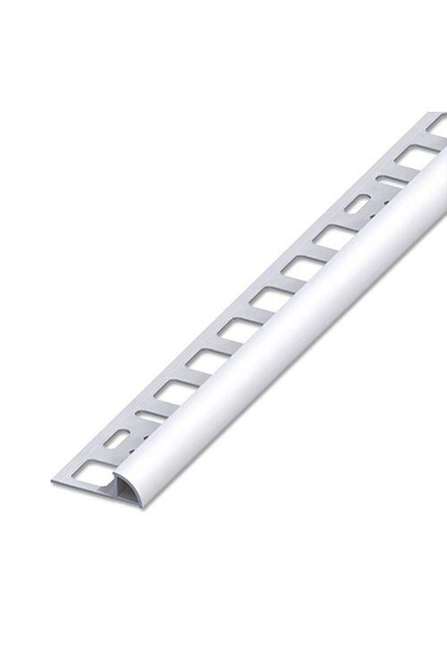 Četrtkrožni profil (aluminij, srebrn, D x V: 2,5 m x 8 mm)