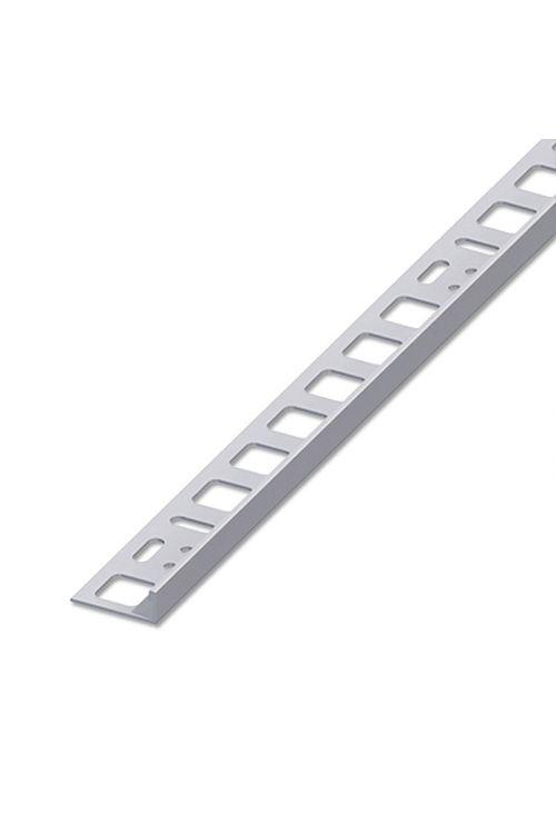 Profil za keramične ploščice (legirano jeklo, nerjavno, 2,5 m x 12,5 mm)