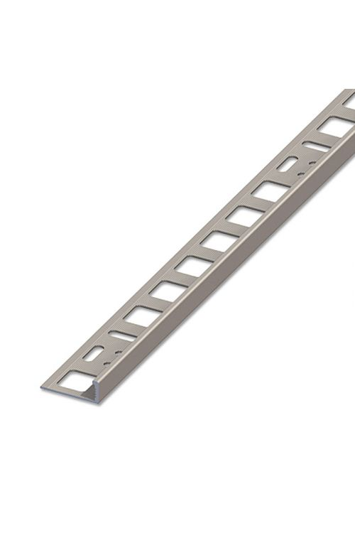 Profil za keramične ploščice (aluminij, titan, 2,5 m x 10 mm)
