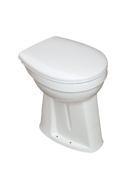 WC školjka Camargue Set Plus 100 (odtok v tla, povišana za 10 cm, medicinska, WC deska snemljiva s počasnim spuščanjem)