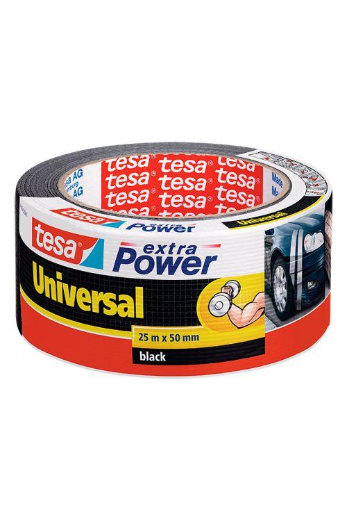 Univerzalen večnamenski trak Tesa extra Power (črn, 25 m x 50 mm)