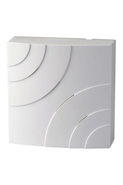 Hišni zvonec Heidemann Quarter (D x Š x V: 45 x 116 x 116 mm, 85 dB, bel, umetna masa)