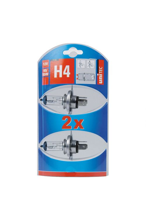 Žarnice za glavni žaromet UniTec (H4, 2 kosa)