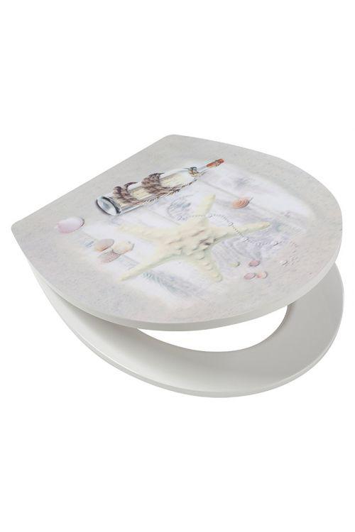 WC deska POSEIDON Seaside (duroplast, počasno spuščanje, snemljiva, siva)