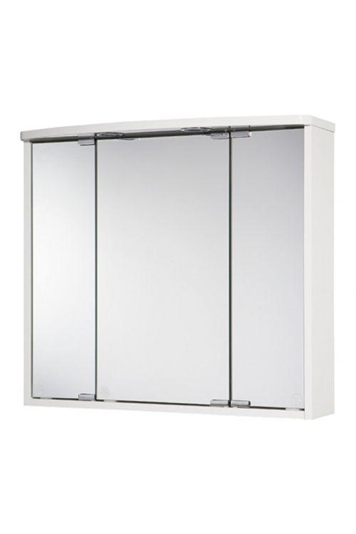 Omarica z ogledalom Jokey Lumo (67,5 x 60 x 22 cm, bela, sijaj, LED)