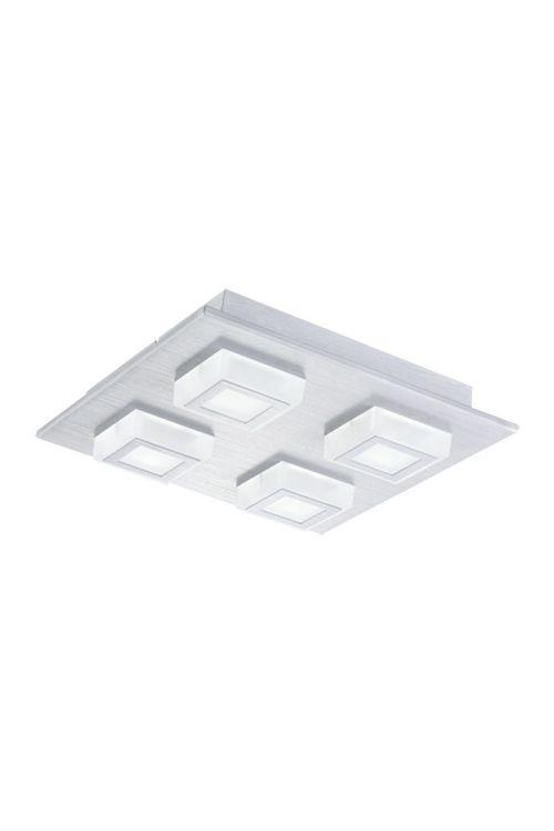Stenska in stropna LED-svetilka Tween Light Masiano (4 svetila, maks. moč: 13,2 W, toplo bela, krtačen aluminij, energetski razred: A+)