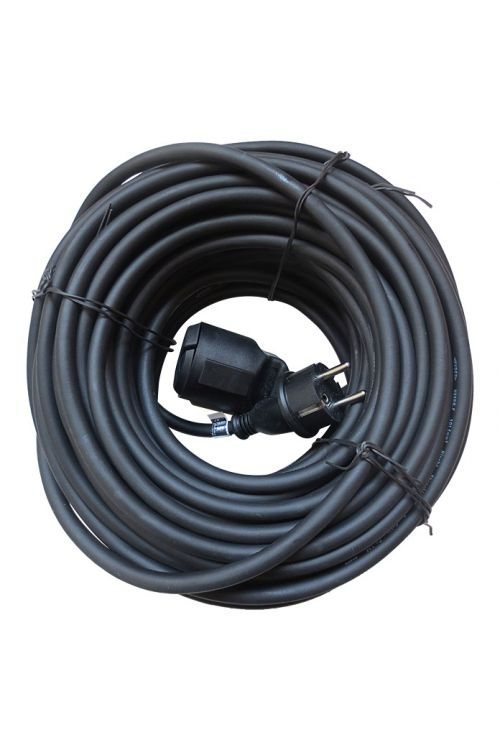 Električni podaljšek Voltomat (25 m, črn, IP44, H05RR-F3G 1,5)