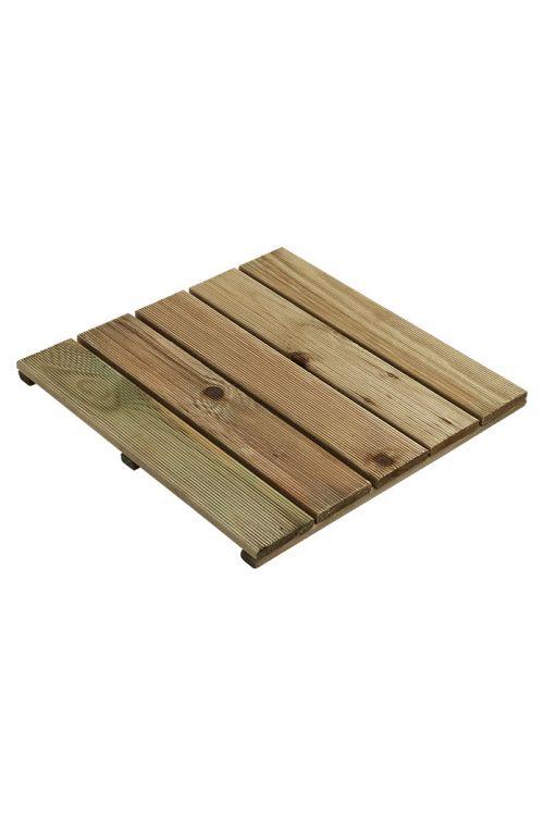 Lesena plošča (bor, zelene barve, 50 x 50 cm)