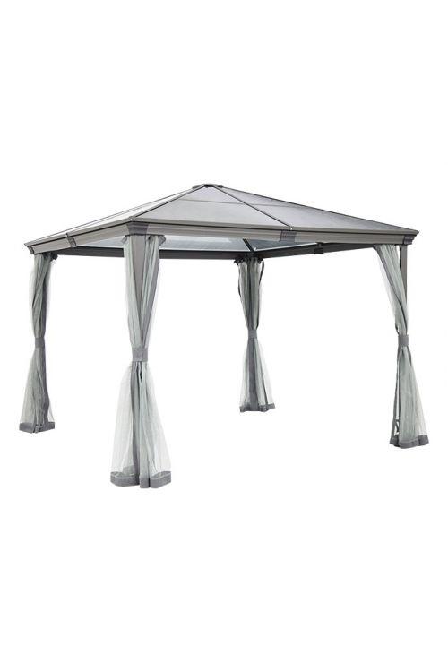 Paviljon SUNFUN Reo (d 300 x š 300 x v 270 cm, aluminijasto ogrodje, polikarbonatna streha, stebri 7,6 x 76 cm, stranice za zaščito pred mrčesom)