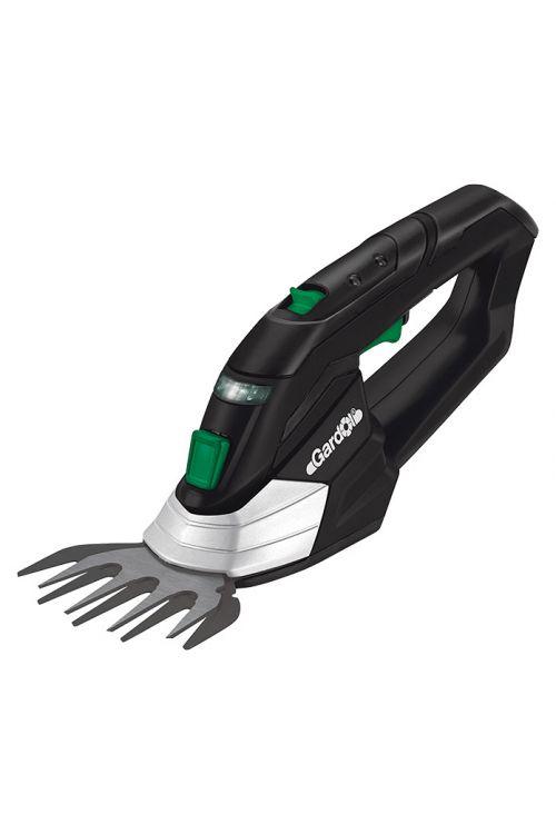 Akumulatorske škarje za travo in grmičevje Gardol GGS-E 12 LI (12 V, li-ionski, 1,3 Ah, 1 akumulator, širina rezila: 10 cm, čas delovanja akumulatorja: 100 min)