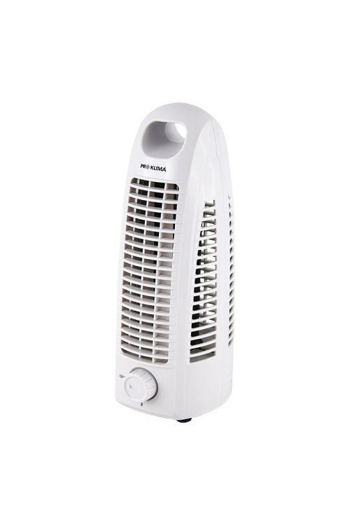 Namizni ventilator Proklima Tower (10 W, višina 27,5 cm, dve hitrosti delovanja, beli)