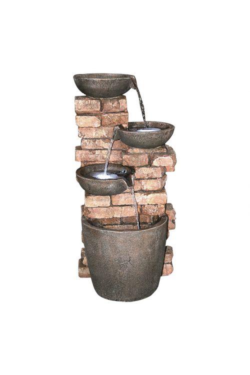 Stoječa fontana Piemont (43,1 x 41,2 x 85,3 cm, umetna masa, LED)