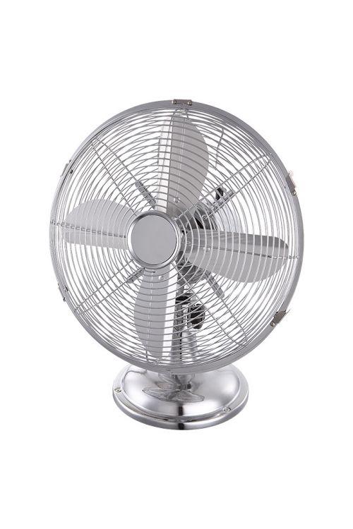 Retro namizni ventilator Proklima (srebrn, premer: 30 cm, 35 W, 2500 m³/h)