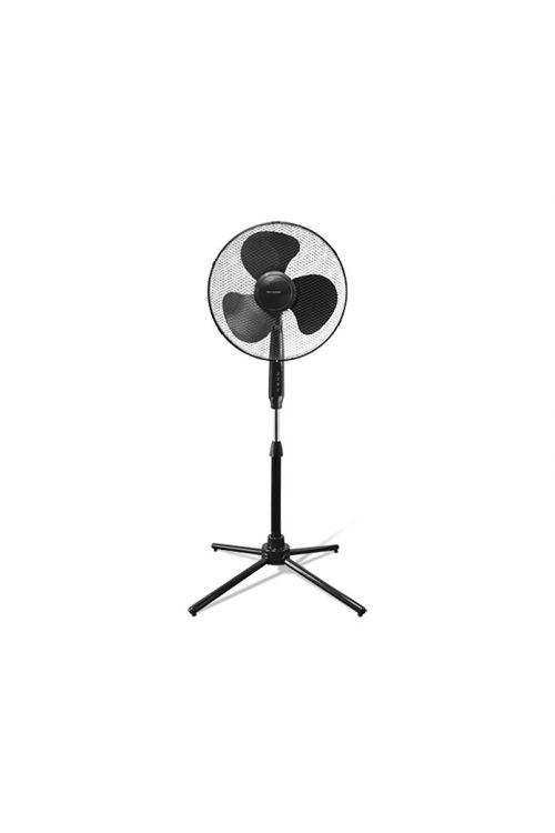 Stoječi ventilator Proklima (črn, premer: 40 cm, 44 W, 3750 m³/h)