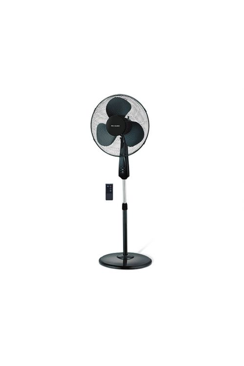 Stoječi ventilator Proklima (črn, premer: 40 cm, z daljinskim upravljanjem, 3750 m³/h)