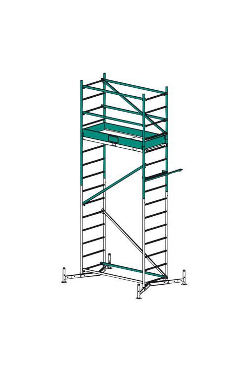 Prvi nadzidek KRAUSE ClimTec (delovna višina: 5 m, nosilnost 180 kg, površina odra: 0,9 m²)