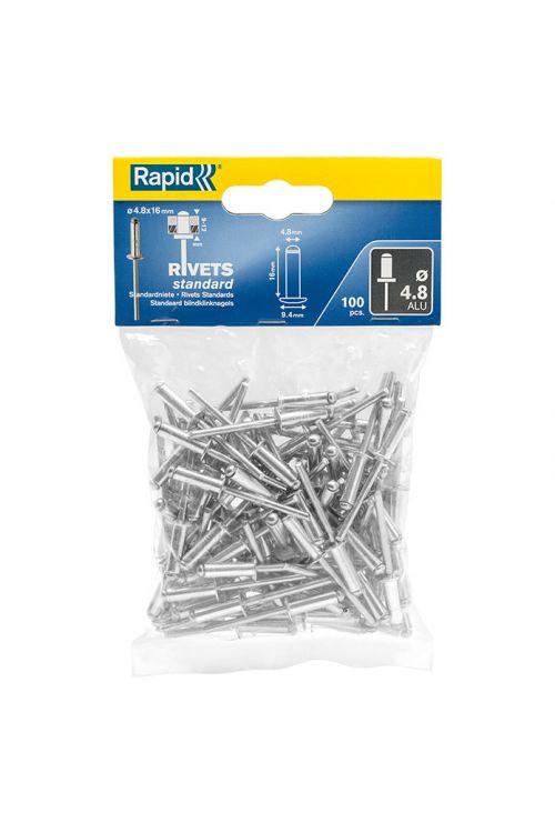 Slepe zakovice Rapid (dolžina zakovice: 16 mm, premer zakovice: 4,8 mm, 100 kosov)