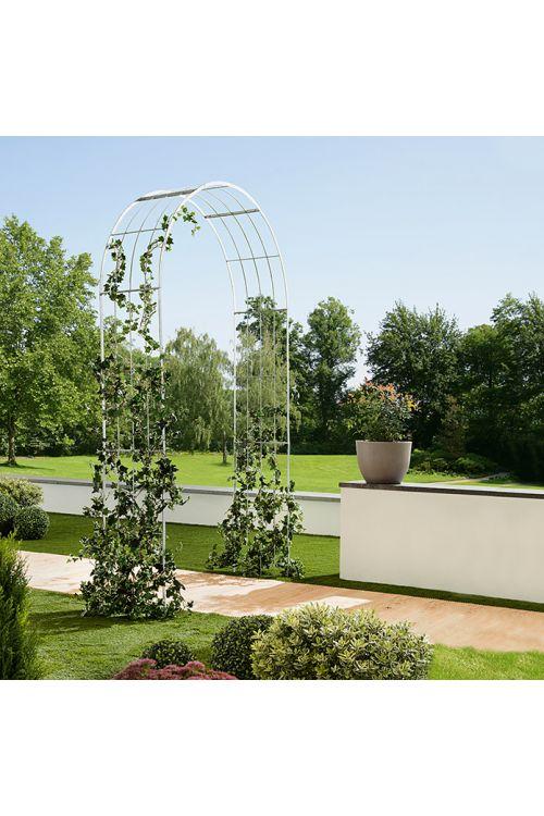 Obok za vrtnice Gardol (srebrne barve, 40 x 140 x 244 cm)