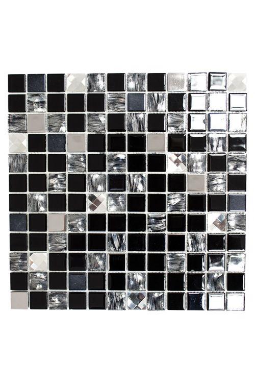 Samolepilni mozaik SAM 4CM26 (30 x 30 cm, steklo, mešana črna)