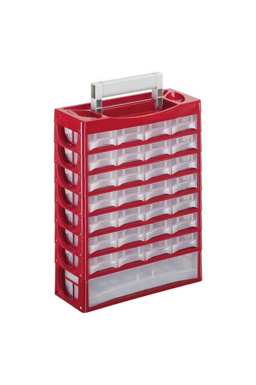 Predalnik za majhne dele Lockweiler P 29 (rdeč, število predalov: 29)