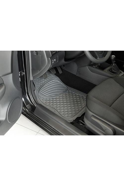 Komplet gumijastih preprog za motorna vozila Color, UniTec (2-delni, siv)