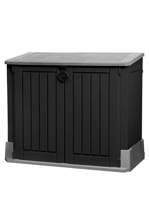 Zabojnik za smetnjake Keter Store-It-Out Midi (74 x 130 x 110 cm, 120 l, siv/črn)