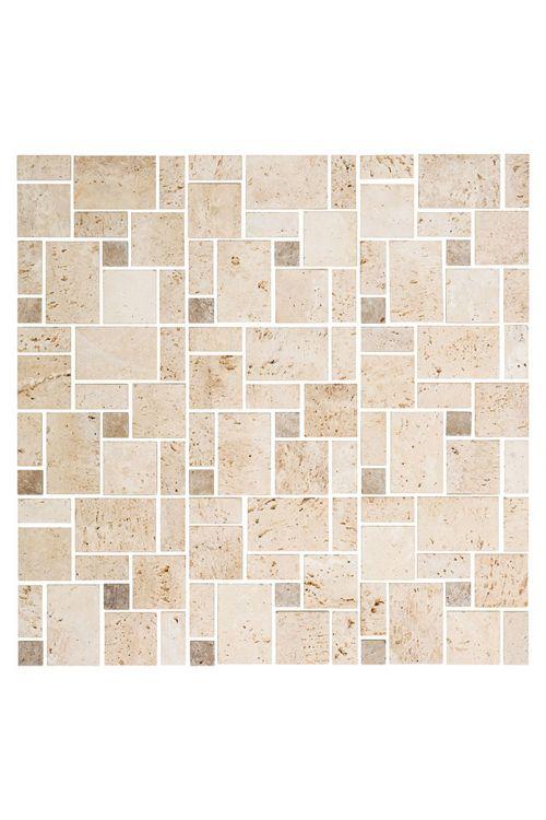 Samolepilni mozaik Travertin SAM 4CM14 (30,5 x 30,5 cm, naravni kamen, mešana bež)