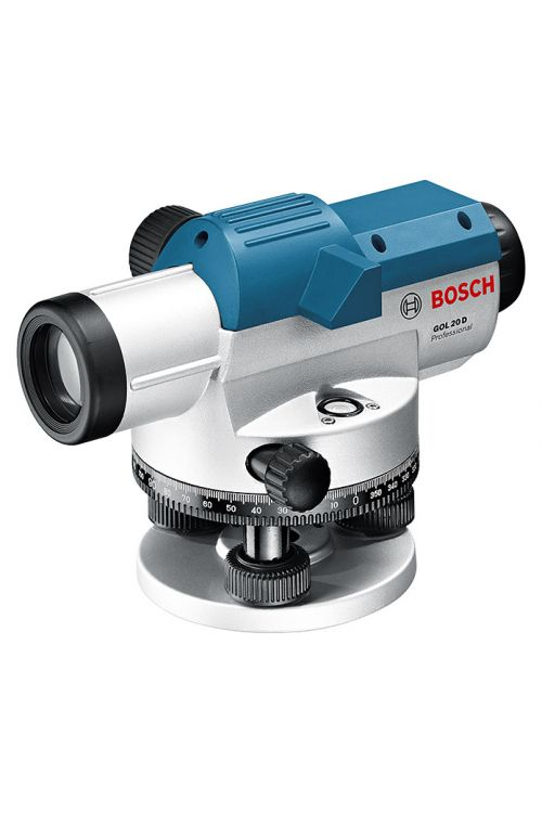 Optična nivelirna naprava BOSCH Professional GOL 20 D (natančnost: ± 0,3 mm/m, delovno območje: do 60 m, merilni del: 1° (vodoravni krog))