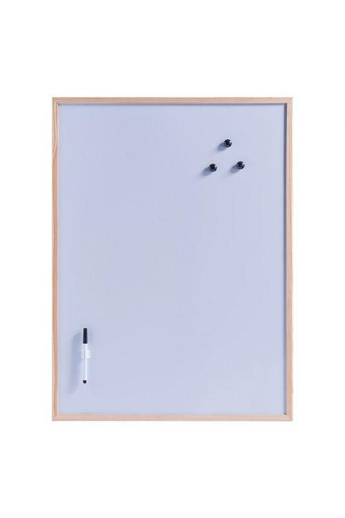 Magnetna tabla Zeller Present (80 cm x 60 cm x 14 mm, kovina, naravno, vklj. s pisalom, držalom za pisalo, tremi magneti, ušesi za obešanje)