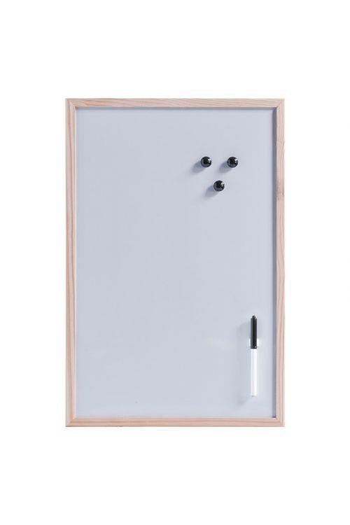 Magnetna tabla Zeller Present (60 cm x 40 cm x 14 mm, kovina, naravno, vklj. s pisalom, držalom za pisalo, tremi magneti, ušesi za obešanje)